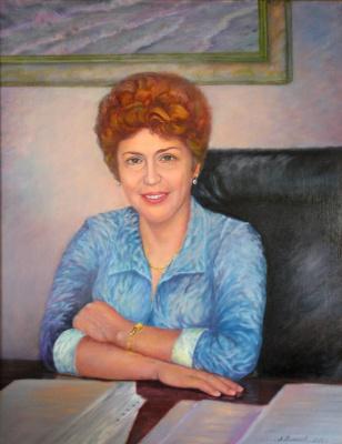 """Alexander Fedorovich Vazhnev. """"Portrait of TA Zhukova."""""""
