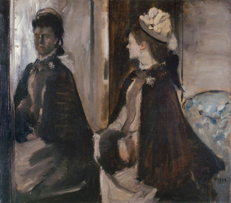 Edgar Degas. Madame Jeanty in the mirror