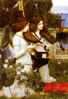 John William Waterhouse. Saint Cecilia (detail)