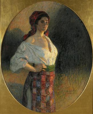 Nikolay Petrovich Bogdanov-Belsky. The young enchantress