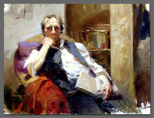 Пино Даени. Мужчина с книгой