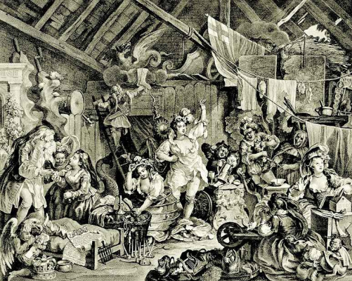 William Hogarth. Stray of the actress who wears in the barn