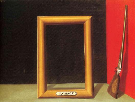 René Magritte. Ideal landscape