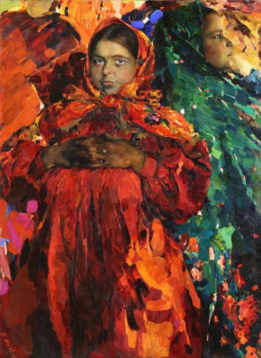 Filipp Andreevich Malyavin. Two girls