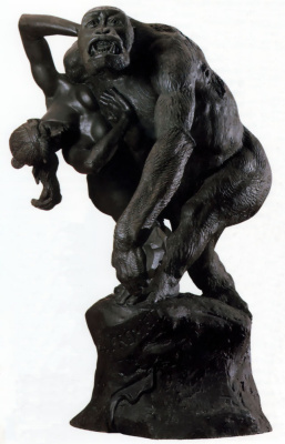 Эмануэль Фремиет. Горилла уносит женщину