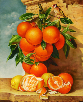 Vladimir Shtykov. With oranges
