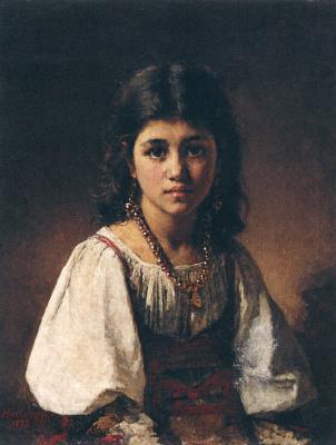 Alexey Alekseevich Kharlamov. Portrait of a gypsy girl.