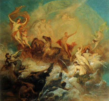 Hans Makart. The victory of light over darkness