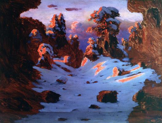 Arkhip Ivanovich Kuindzhi. Sunset effect