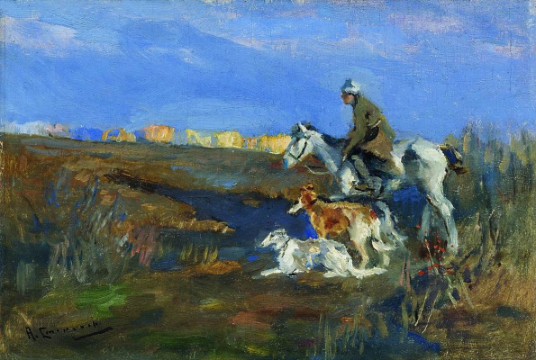 Alexey Stepanovich Stepanov. Hunting with greyhounds