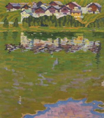 Giovanni Giacometti. Capolago. Village on the lake