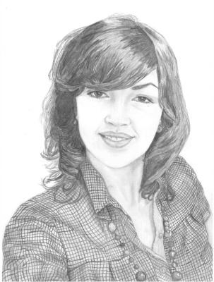 Ирина Владимировна Хазэ. Portrait made with lead pencils