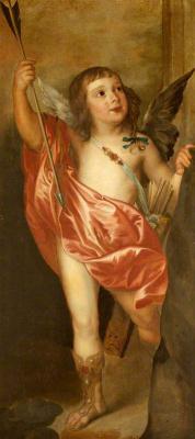 Антонис ван Дейк. Чарльз Гамильтон, граф Арран, в образе Купидона (фрагмент)