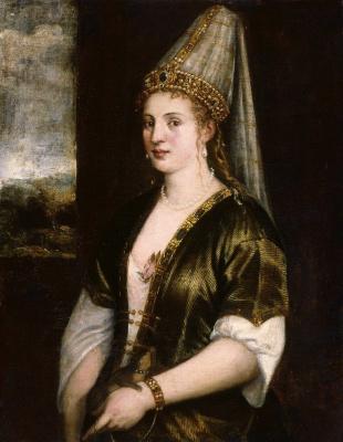 Тициан Вечеллио. Портрет жены султана Россы (Роксоланы)