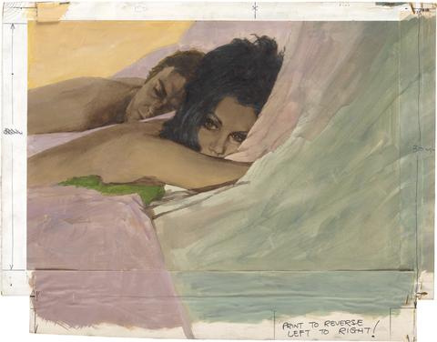 Harry Zelinski. Man and Woman in bed