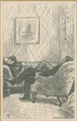 John Everett Millais. Mr. Chaffanbrass and Mr. Solomon Aram. Illustration for the works of Anthony Trollope