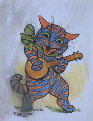 Louis Wain. Capable! Banjo Cat