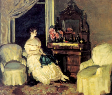Stanislav Yulianovich Zhukovsky. In the room
