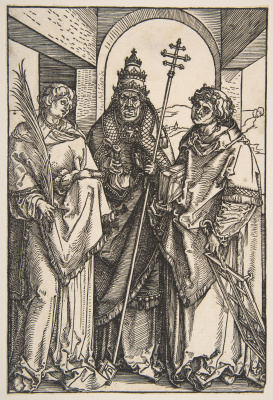 Albrecht Durer. St. Stephen, St. Sixtus and St. Lawrence