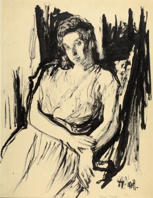 Petr Vasilyevich Miturich. Portrait of Gloria Kachur