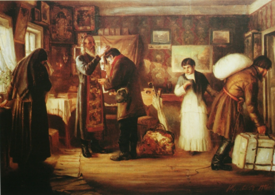 Firs Sergeevich Zhuravlev. Blessing. 1901 Rybinsk Museum-Reserve
