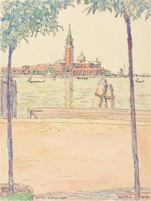 Fritz Bleuil. Venice, San Giorgio Maggiore