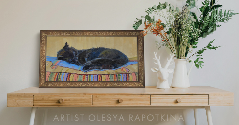 Olesya Rapotkin. Dunya on the pillow