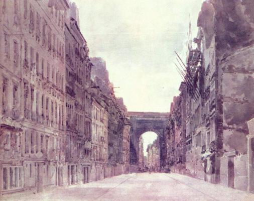 Томас Гёртин. Улица Сен-Дени в Париже