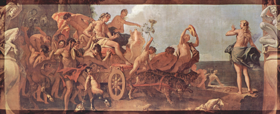 Sebastiano Ricci. A series of paintings for the Burlington house in London. The meeting of Bacchus and Ariadne
