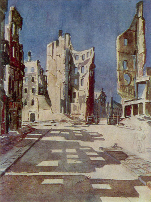 Alexander Alexandrovich Deineka. Destroyed buildings