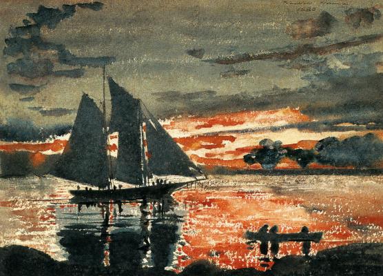 Winslow Homer. The blazing sunset