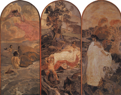 Mikhail Vrubel. The Judgment Of Paris. Triptych