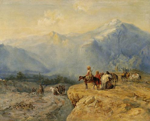 Григорий Григорьевич Гагарин. Вид со Столовой горы.