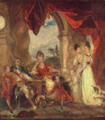 Joshua Reynolds. Portrait of the Duke of Marlborough with his family