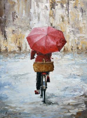 Sergei Lutsenko. Walking in the rain