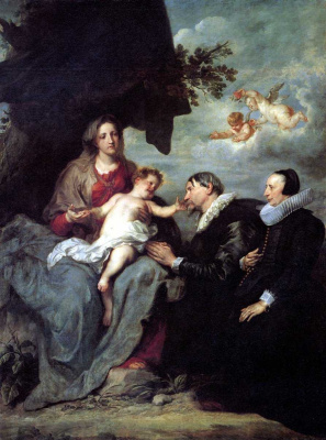 Anthony van Dyck. Madonna and child with two donors
