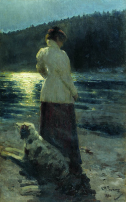 Ilya Efimovich Repin. Moonlit night. Zdravnevo.