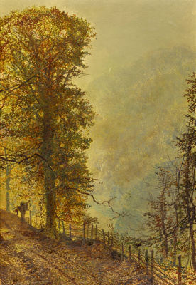 John Atkinson Grimshaw. Riverside Road Rabbit Hunter