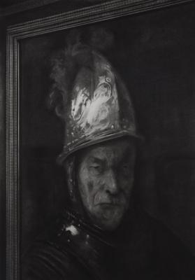 Rick de Boux. Portrait of a man in a helmet