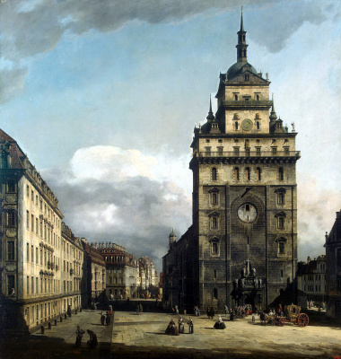 Бернардо Беллотто. Площадь перед церковью Креста в Дрездене