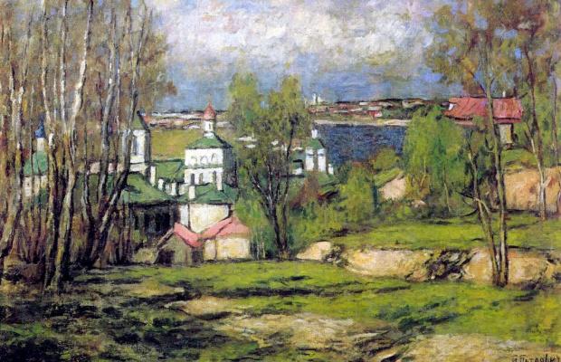 Петр Иванович Петровичев. Вид Москвы с Воробьевых гор