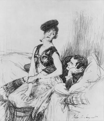 Джон Сингер Сарджент. Мужчина и женщина на кровати