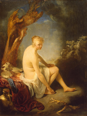 Gerrit (Gerard) Dow. Bather
