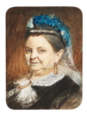 Андерс Цорн. Портрет пожилой женщины