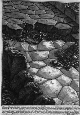 Джованни Баттиста Пиранези. Античная кладка дороги Виа Аппиа