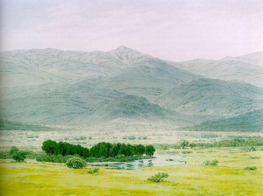 Caspar David Friedrich. Landscape in the Giant Mountains