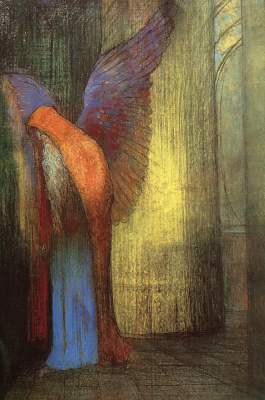 Odilon Redon. The winged bearded old man