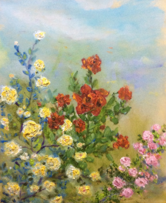 Rita Arkadievna Beckman. Roses in the Garden