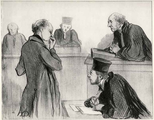 Honore Daumier.  Mr witness, remember what you did four years ago, on 9 April, between ten and eleven.