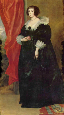 Anthony van Dyck. Portrait Of Henrietta Of Lorraine